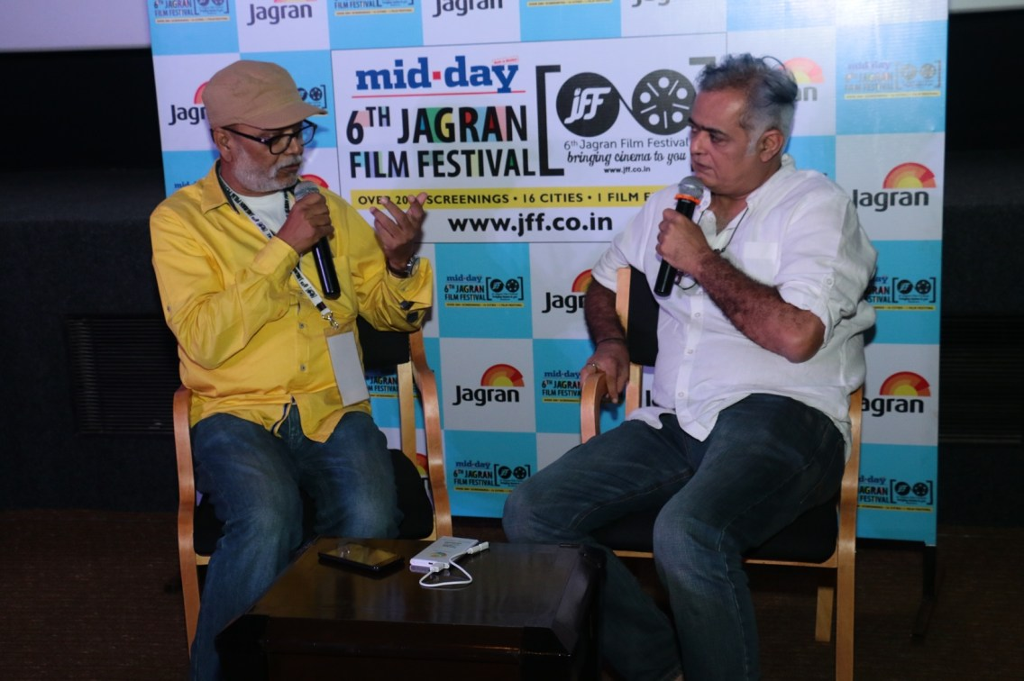 Director Hansal Mehta in conversation with Mr. Ajay ajay Brahmatmaj at the 6th Jagran Film Festival