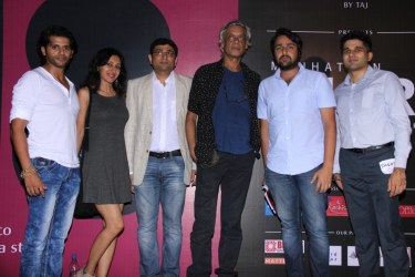 Karanvir Bohra_Teejay Sidhu_Sameer Mody,CEO and Founder of Pocket Films_Sudhir Mishra_Anil Sadrangani , Director of Manhattan Short at the 6th Edition of Manhattan Short 2015 in India