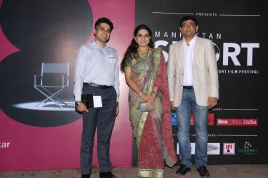 Mr.Anil Sadrangani , Festival Director of Manhattan Short_Ms.Shaina NC_Sameer Mody,CEO and Founder of Pocket Films at the 6th Edition of Manhattan Short 2015 in India (2)