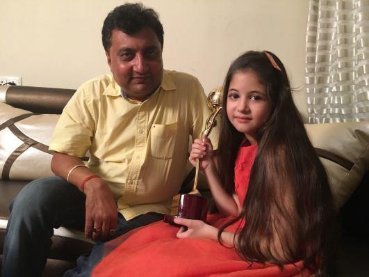 Dinesh Singh with HarshaliMalhotra