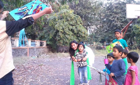 Kesariee Celebrating Kites with Children4