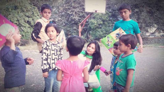 Kesariee Celebrating Kites with Children6