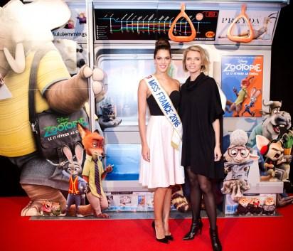 Iris Mittenanere (Miss France 2016) & Sylvie Tellier