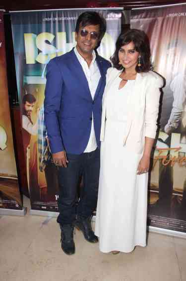 Jaaved Jafferi and Lisa Ray
