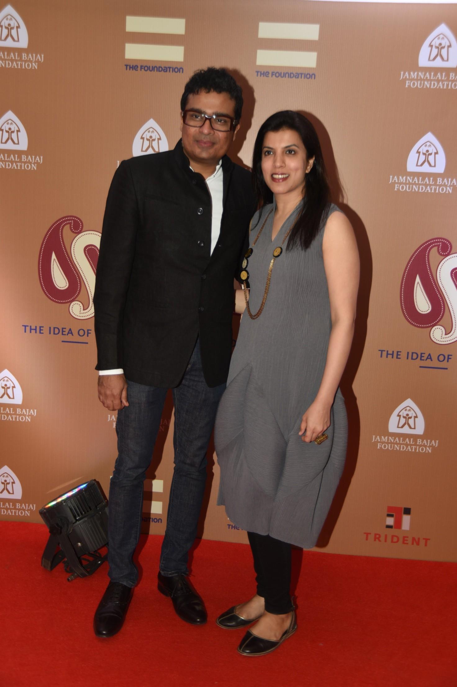 Jitish Kallat with wife
