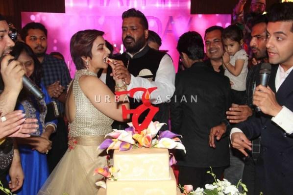 Rashmi Sharma's cake cutting celebration