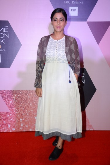 Sugandha Garg wearing Indigene by Jaya & Ruchi at LFW - curtain raiser (5)