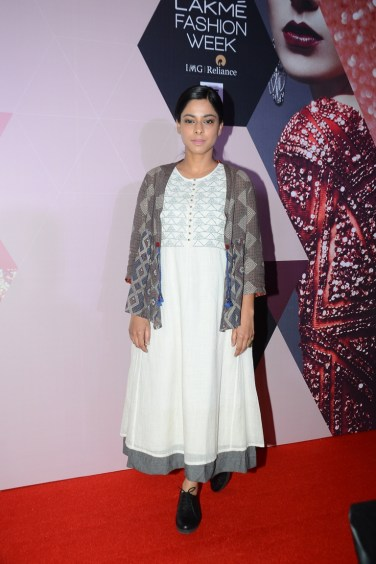 Sugandha Garg wearing Indigene by Jaya & Ruchi at LFW - curtain raiser