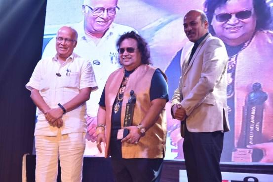 Rajkumar Barjatya, Bappi Lahiri With Sooraj Barjatya