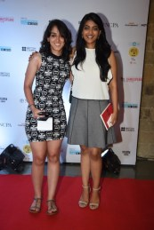 Aira Khan and friend at MAMI film club launch