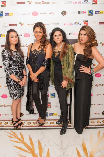 Promila Jain Bahri; Gauri Khan; Shivani Ahluwalia; Monica Sambharya Parikh, Co-CEO & Director, Trescent Lifestyles at BollyGoods Edition 2, London (photographer credit - Shahid Malik)