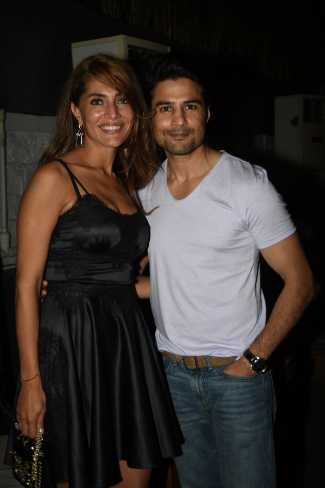 Caterina Murino and Rajeev Khandelwal at the Fever party (1)