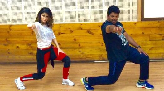 Sunny Leone dance reherasal with Vishnu Deva1