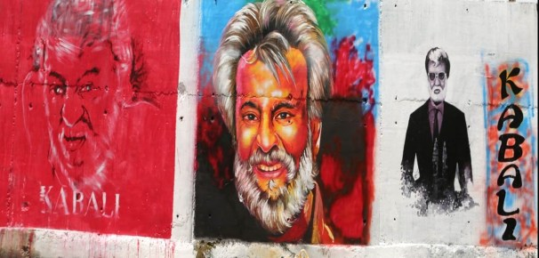 Rajinikanth graffiti 3