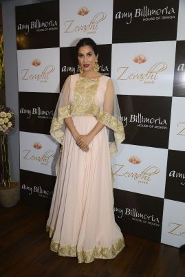 06 Sophie Choudry @ Amy Billimoria House of Designer & Zevadhi Jewels Festive Collection launch soiree