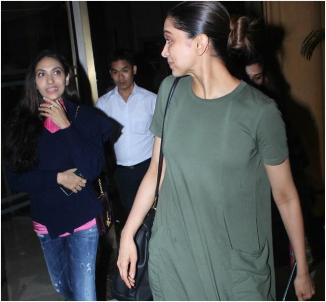 Deepika Padukone And Prernaa Arora Spotted Outside JW Mariott