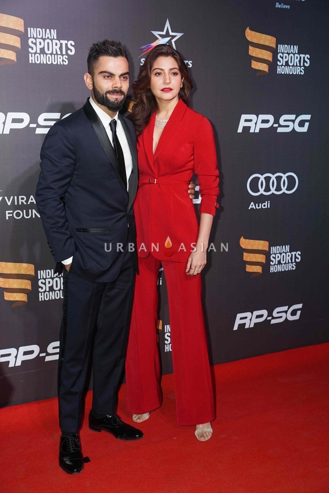 Virat Kohli and Anushka Sharma at The Indian Sports Honour Awards