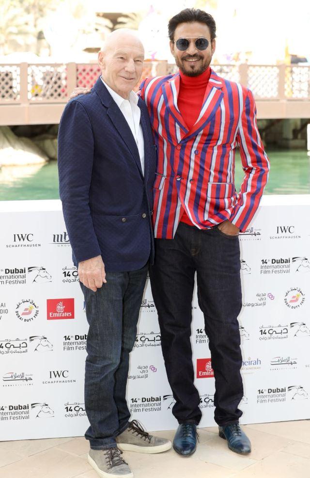 Irrfan Khan and Patrick Stewart