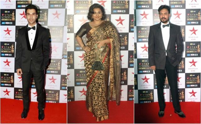 Rajkummar Rao, Vidya Balan, Irrfan Khan win big at the 23rd Star Screen Awards