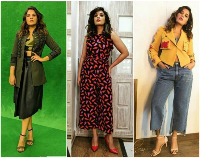 Richa Chadha Shows Her True Fashion Versitality During Fukrey Returns Promotions