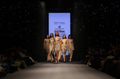 A Rohit Gandhi and Rahul Khanna presentation at Dream Diamonds Delhi Times Fashion Week