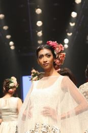 A model in one of Niki Mahajan's latest collection, at Dream Diamonds Delhi Times Fashion Week