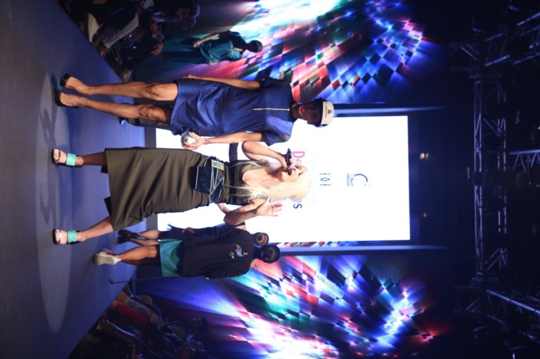 Multi talented designer Christine Storm opened her show at Delhi Times Fashion Week with her wonderful voice