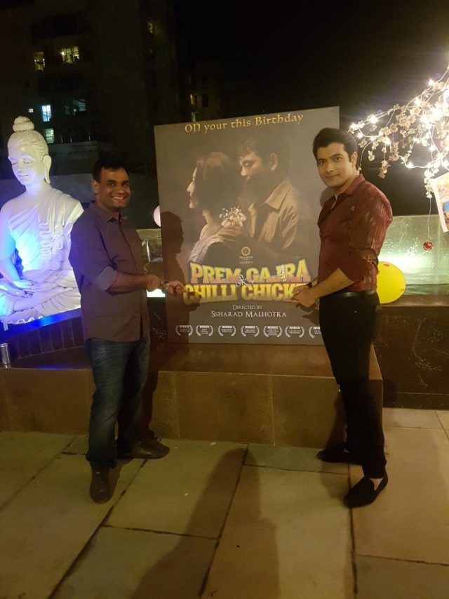 Ssharad Malhotraa Launched the poster of his film, rem, Gajra Aur Chilli Chicken