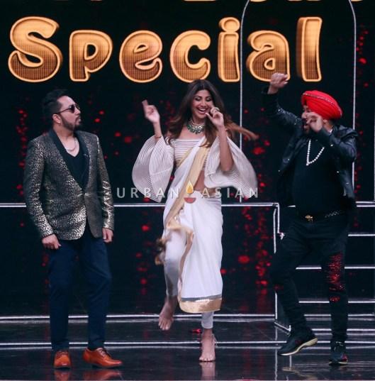 Shilpa Shetty, Daler Mehndi and Mika Singh