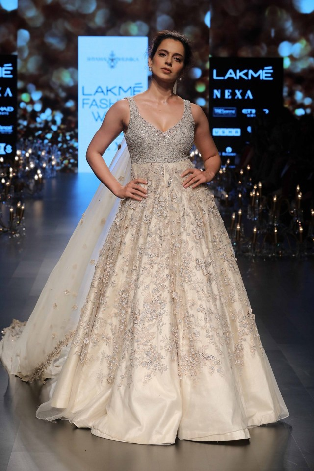 Kangana Ranaut was the show stopper for Shyamal and Bhumika