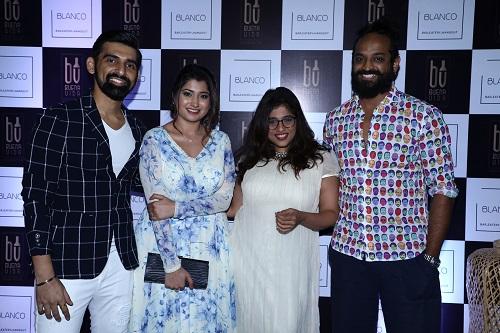 founder and owner of Blanco - Kushal Sankhe, Namita Sankhe with RJ Malishka