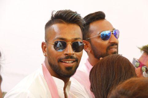02 Hardik Pandya with Krunaal Pandya @ Holi Invasion
