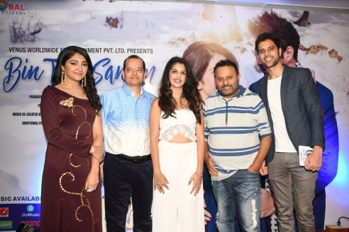 3. Bhumi Trivedi, Champak Jain, Kashish Vohra,, Anil Sahrma and Vipin Sharma during BIN TERE SANAM single launch by VENUS DSC_2499