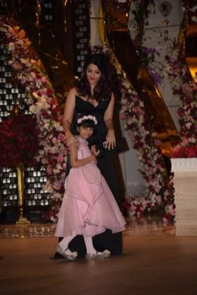 Aishwarya Rai Babchchan and daughter Aaradhya at Akash Ambani And Shloka Mehta Engagement party