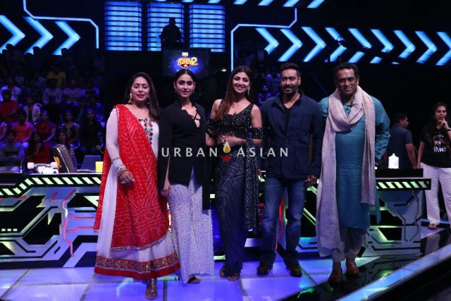 Ajay Devgn and Ileana Dcruz on the sets of Sony Television's Super Dancer Chapter 2