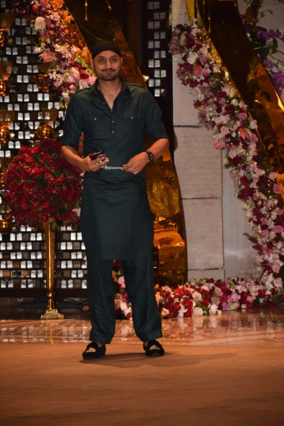 Harbhajan Singh at Akash Ambani And Shloka Mehta Engagement party