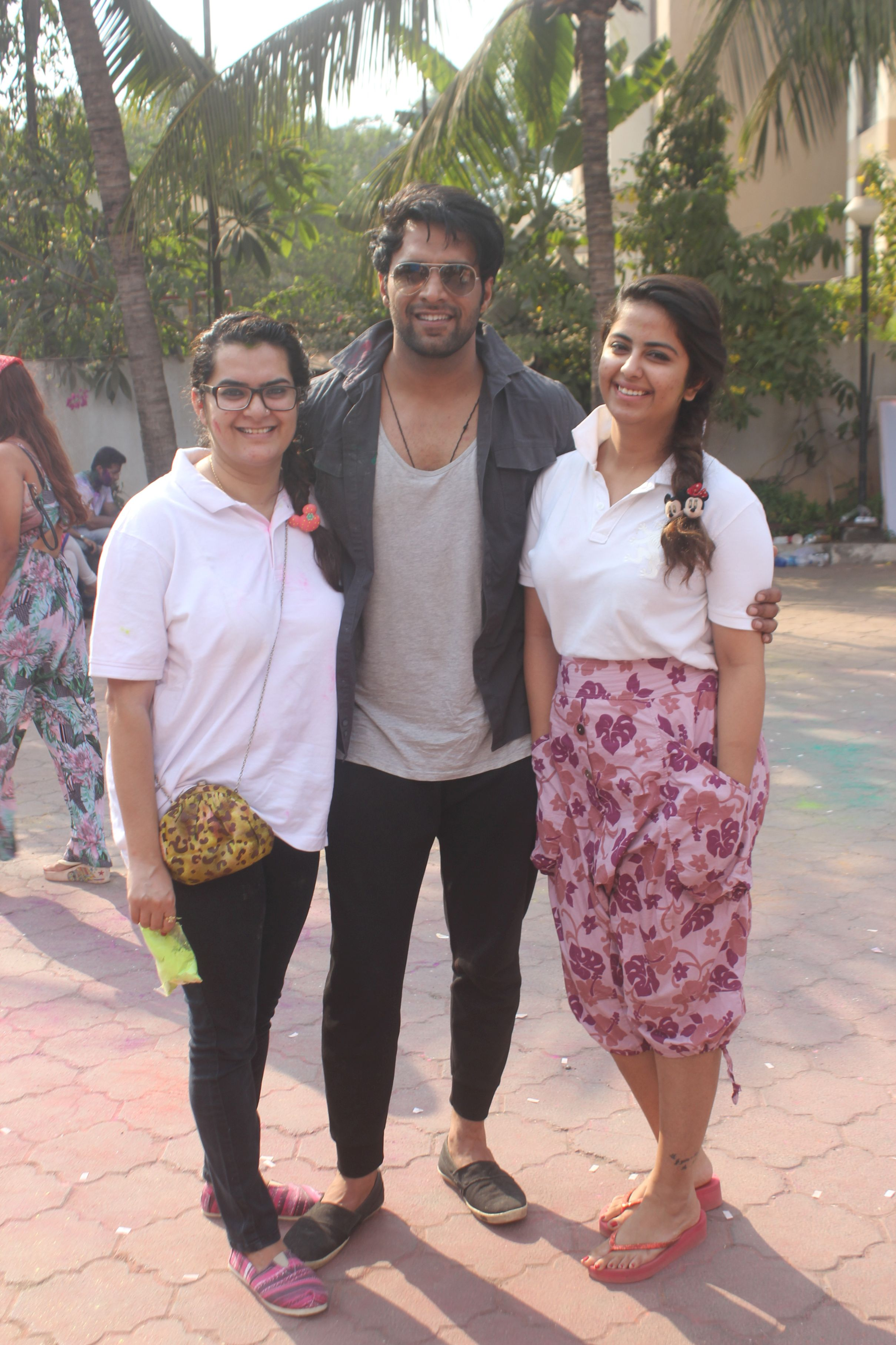 Shaleen Malhotra with Avika Gor @ Holi Invasion