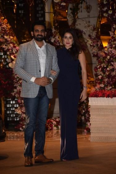 Zaheer Khan and Geeta at Akash Ambani And Shloka Mehta Engagement party