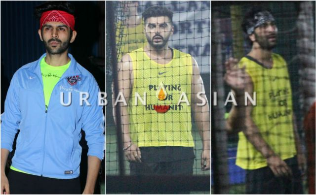 Kartik Aaryan, Arjun Kapoor, Ranbir Kapoor snaped playing football in Bandra