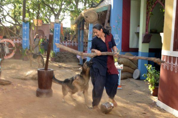 Prachi Tehlan bit on the sets of Ikyawann