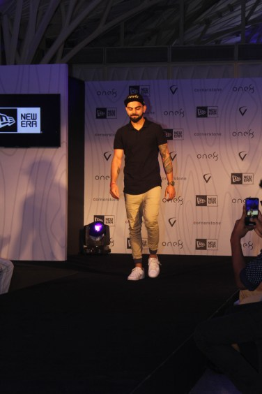 Virat Kohli at the launch of his headgear collection (2)