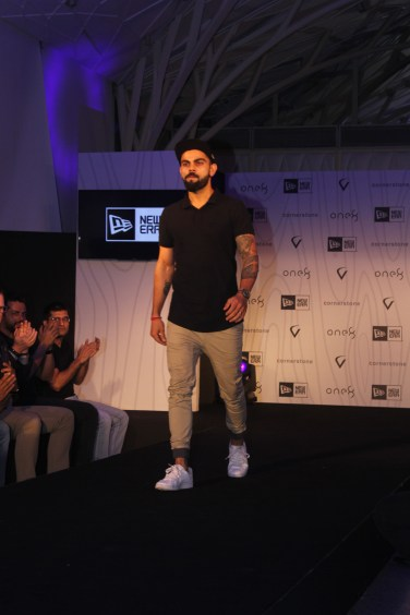 Virat Kohli at the launch of his headgear collection (3)