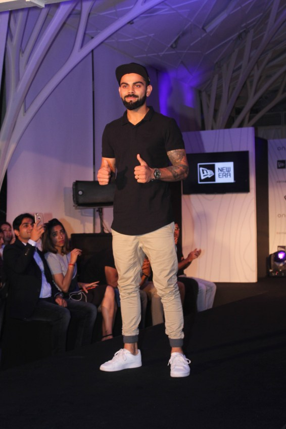 Virat Kohli at the launch of his headgear collection (5)
