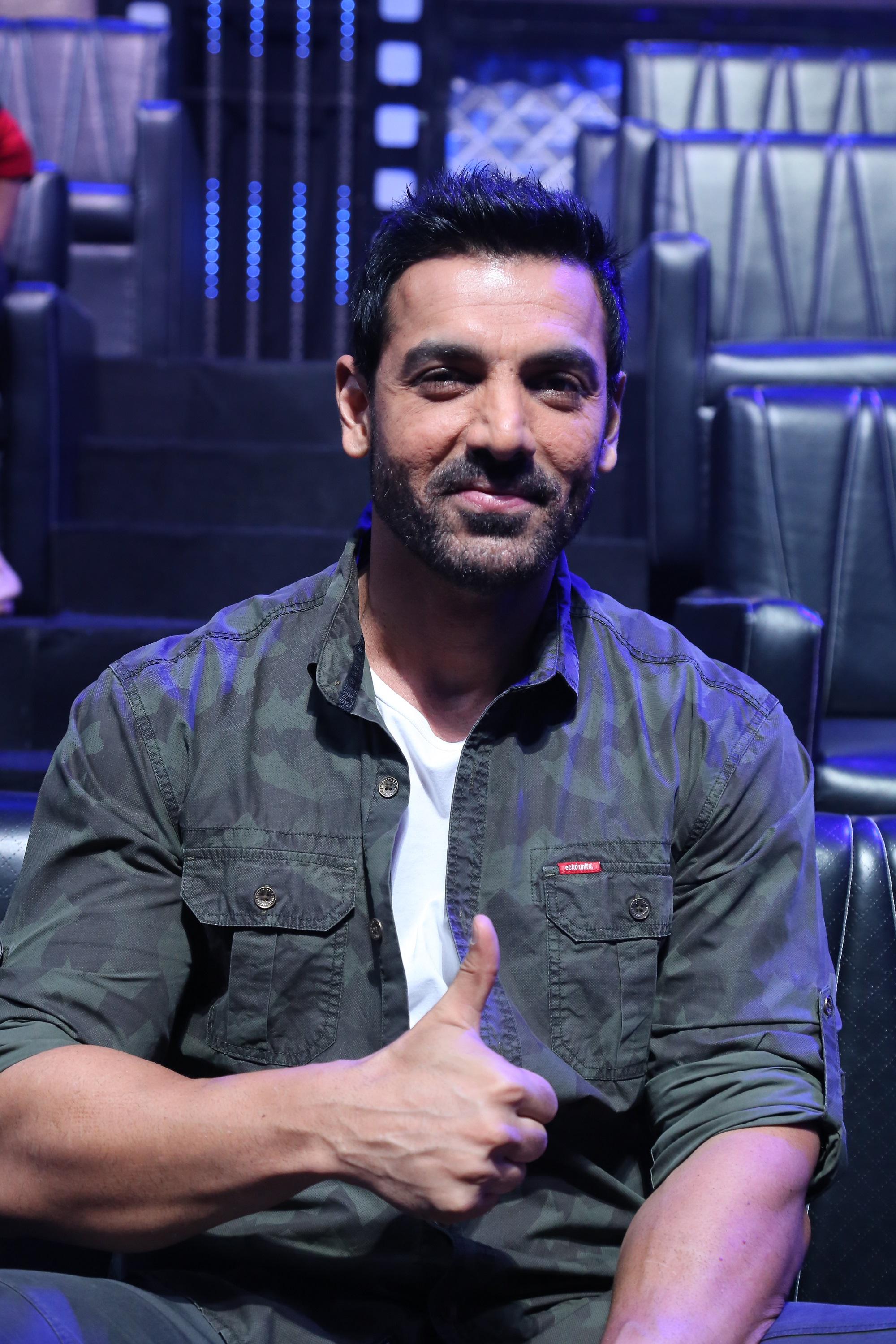 John Abraham for the promotion 0f Parmanu at the sets of DID Li'l Masters 03