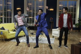 Rajeev Khandelwal, Eijaz Khan and Iqbal Khan shake a leg on sets of JuzzBaatt