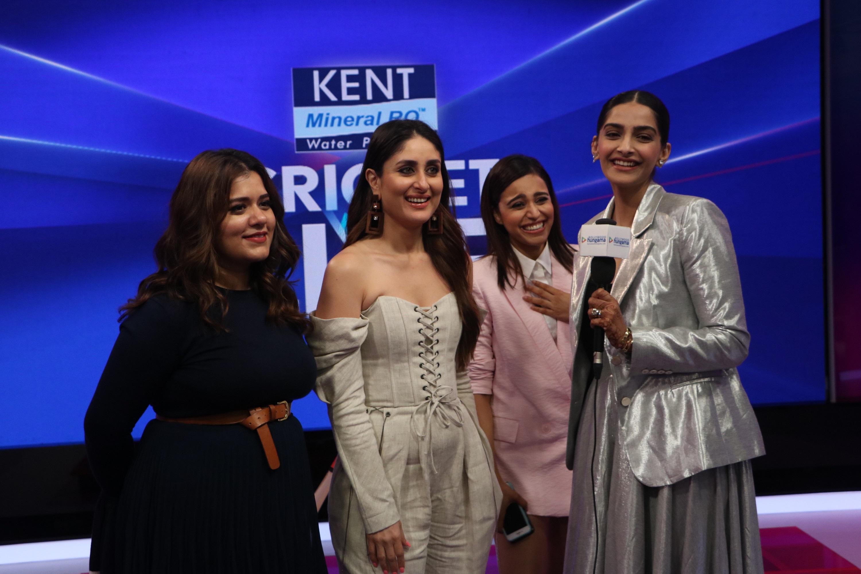 Shikha Talsania, Kareena Kapoor Khan, Swara Bhaskar and Sonam Kapoor at Kent Cricket Live on Star Sports Network