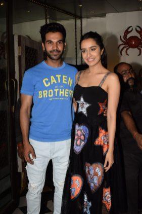 Shraddha Kapoor and Rajkummar Rao at Stree wrap up party (1)
