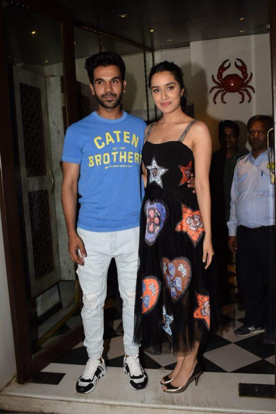 Shraddha Kapoor and Rajkummar Rao at Stree wrap up party (2)
