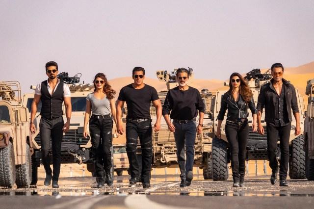 The ensemble cast of Race 3 - Salman Khan, Daisy Shah, Jacqueline Fernandez, Anil Kapoor, Bobby Deol, Saqib Saleem and Freddy Daruwala