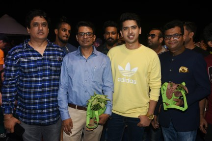 Daboo Malik, Basannt R Rasiwasia, Armaan Malik and Dr.Aneel Murarka at Bhamla Foundation's World Environment Day celebrations at Carter Road